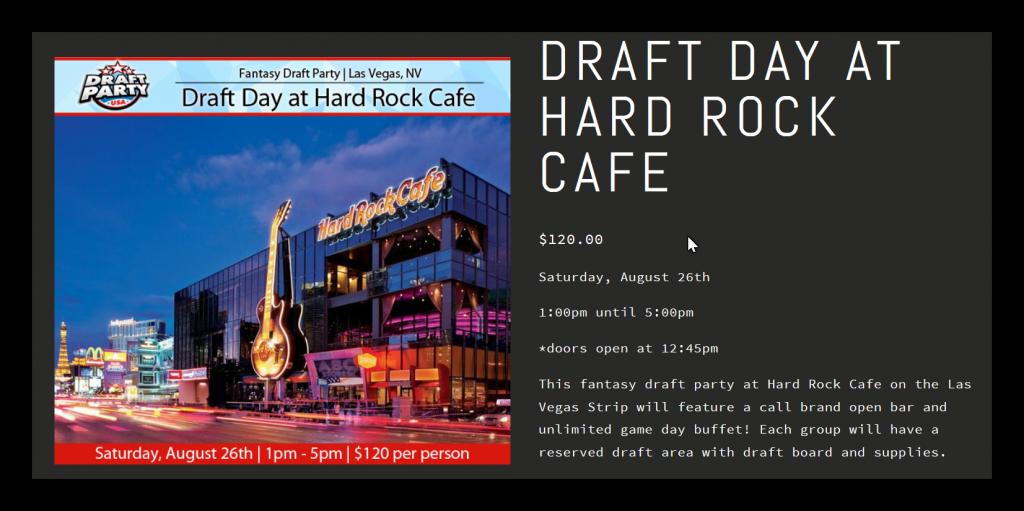 Hard Rock NFL Draft Fantasy