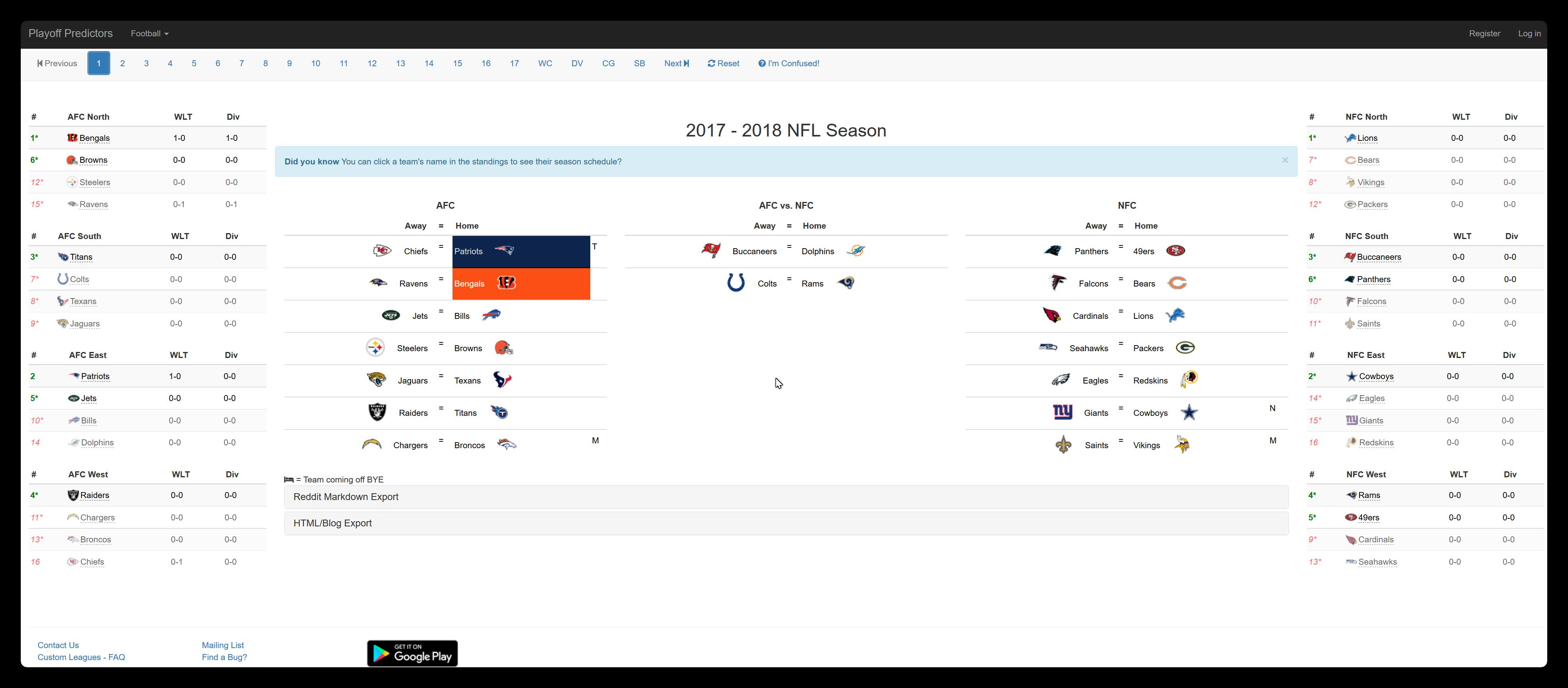 spielplan nfl playoffs