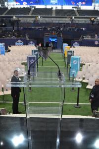 NFL Fantasy Football Draft Podium