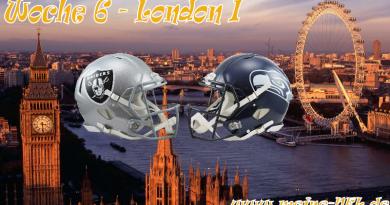 Woche 6: London Premiere mit Oakland-Seattle
