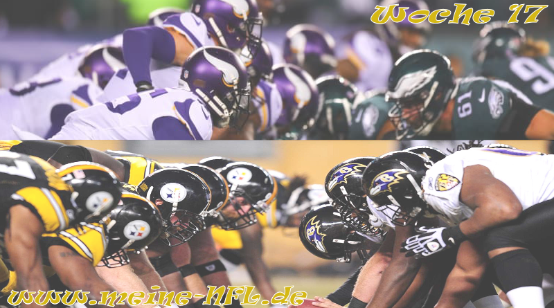Woche 17 Ravens Eagles Vikings Steelers