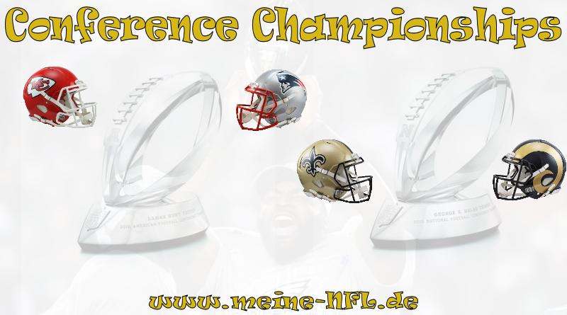 Conference Championships Chiefs Patriots Saints Rams